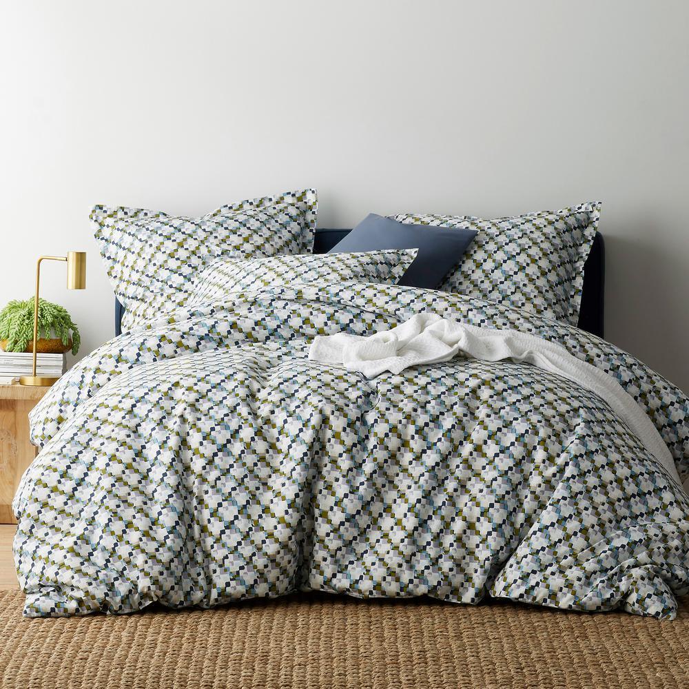 Pix 300 Thread Count Organic Cotton Percale Queen Duvet Cover