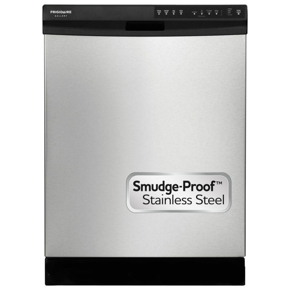 Frigidaire Gallery Front Control Built-In Dishwasher with OrbitClean Spray in Stainless Steel