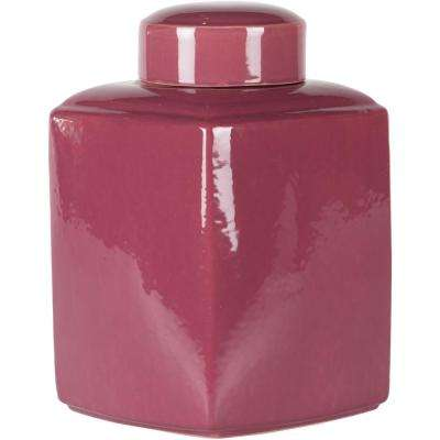 Esscha Dark Purple 16 in. Decorative Jar