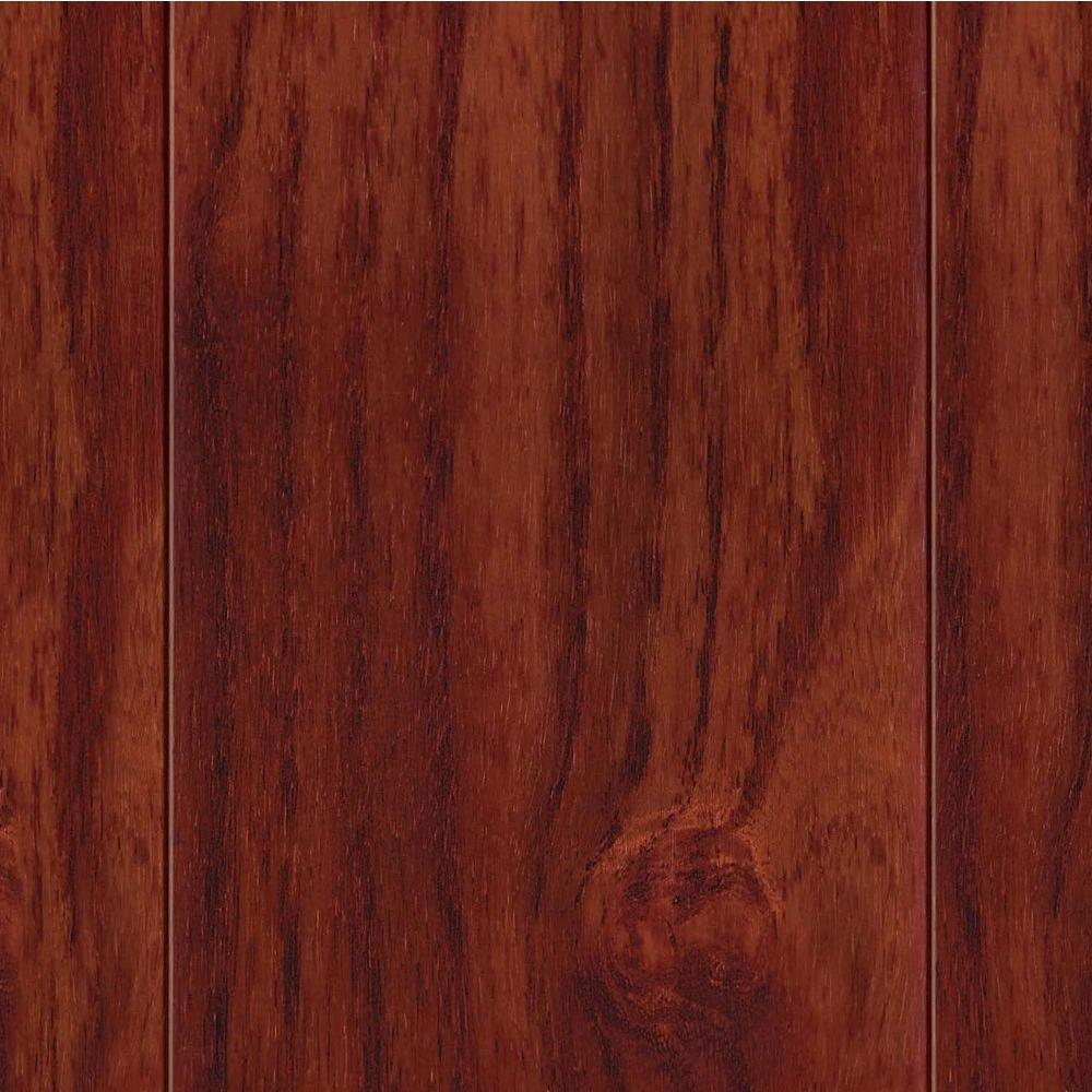 Take Home Sample - High Gloss Teak Cherry Engineered Hardwood Flooring - 5 in. x 7 in.