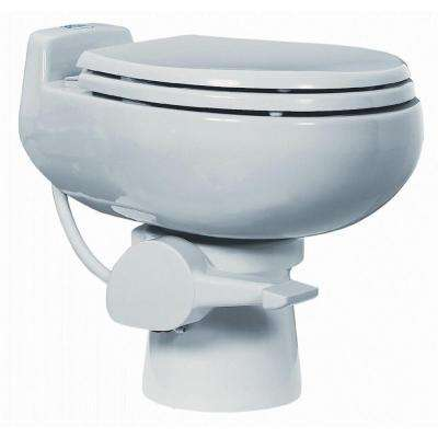 510 Plus 1-Piece 0.125 GPF Single Flush Ultra Low Flush Round Toilet in White