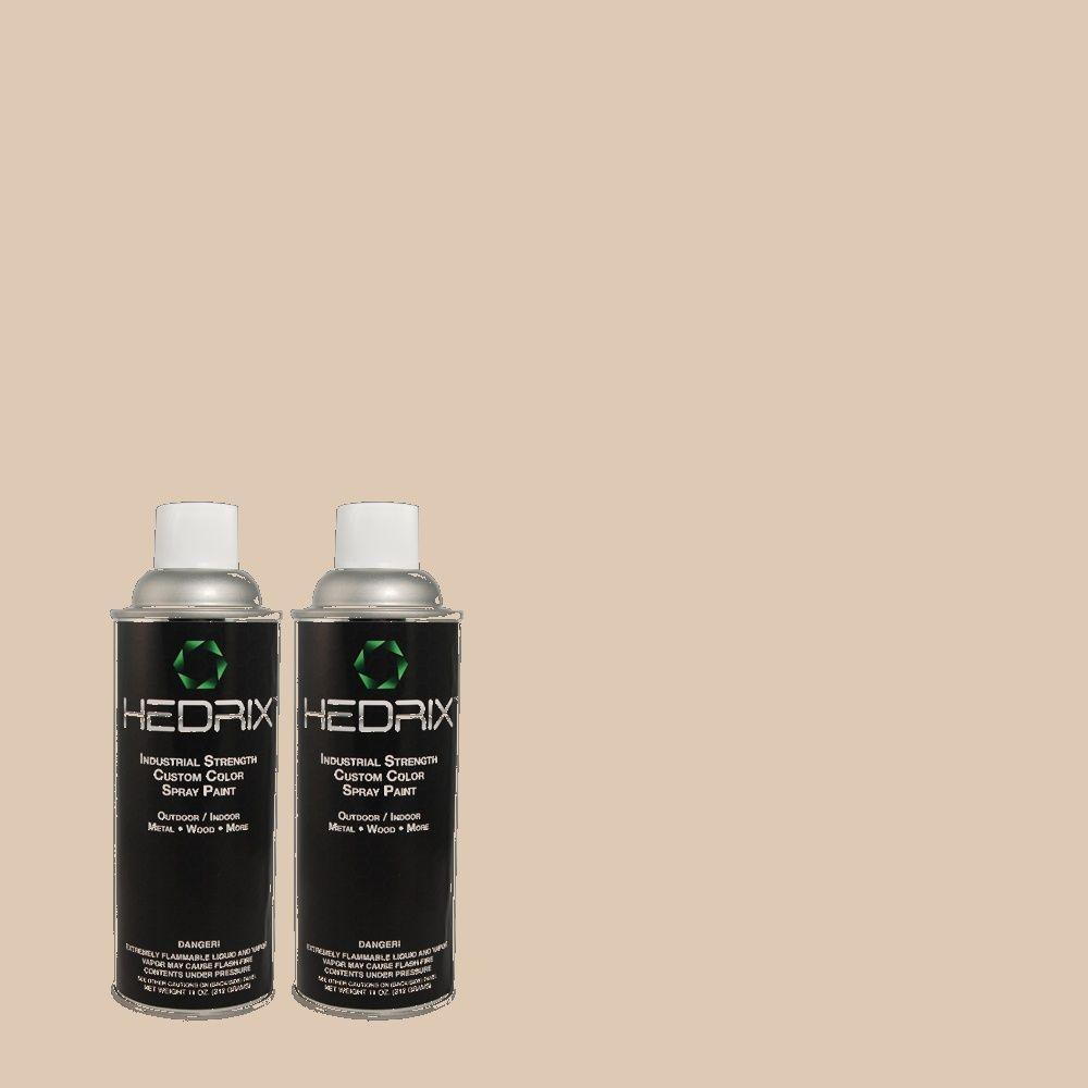 Hedrix 11 oz. Match of MQ3-38 Suede Beige Gloss Custom Spray Paint (8-Pack)
