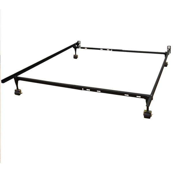 Hercules Standard Adjule Bed Frame With 4 Legs And Locking Rug Rollers Twin