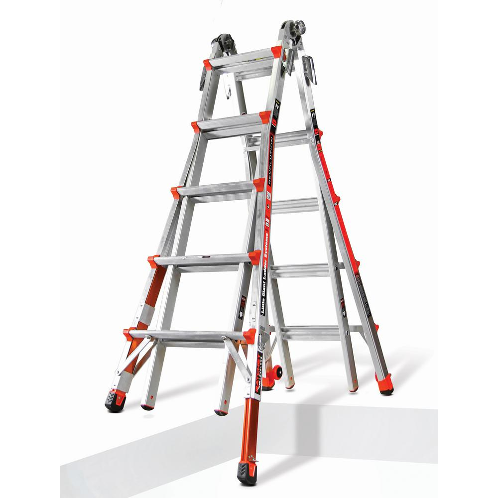 Revolution 22 ft. Aluminum Multi-Use Ladder with Ratcheting Levelers 300 lbs. Load Capacity Type IA