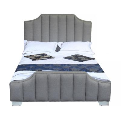 Camelot Queen Grey Fabric Bed Frame