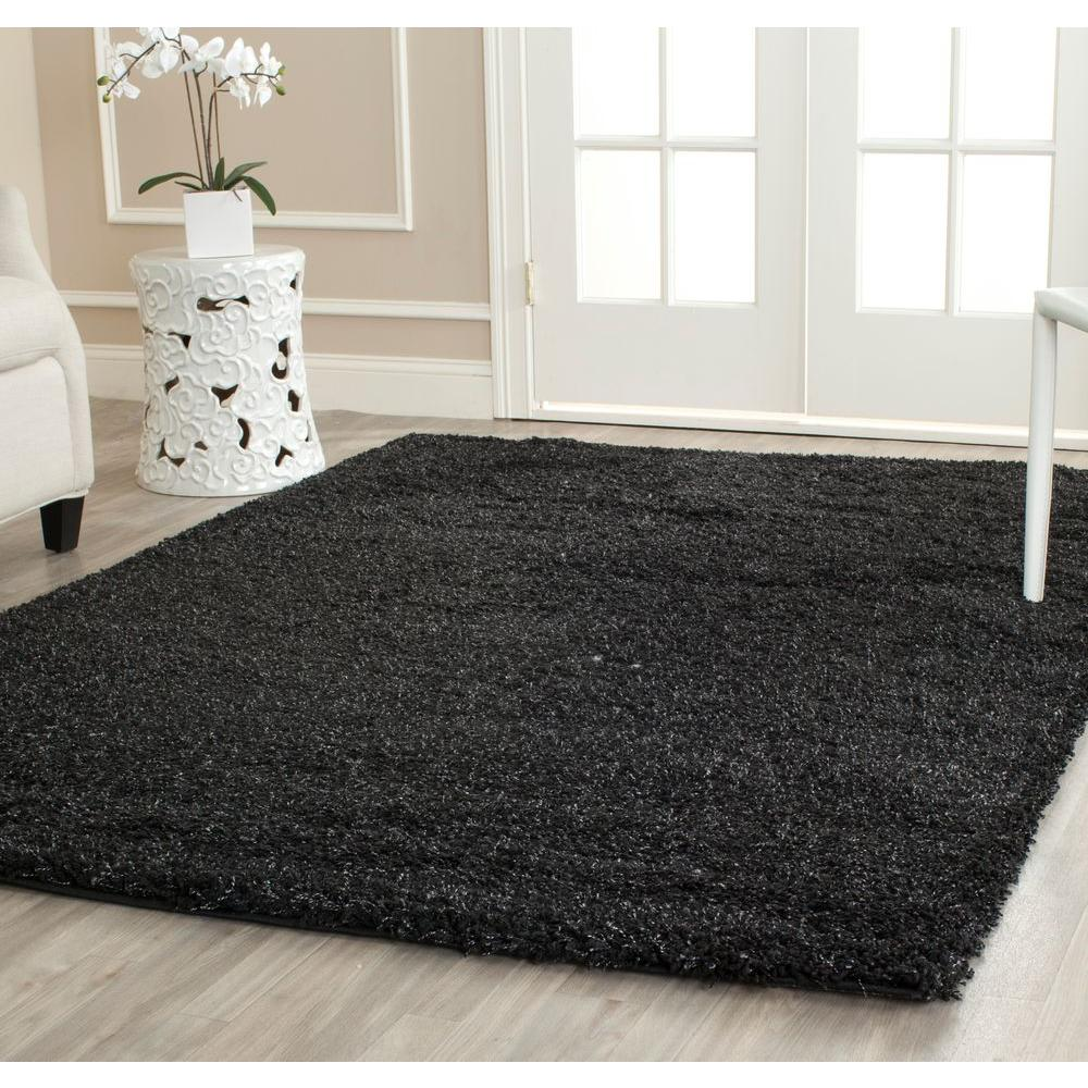 Great California Shag Black 8 Ft. X 10 Ft. Area Rug