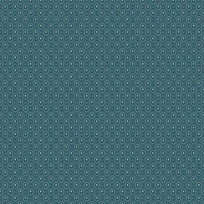 8 in. x 10 in. Ambassador Blue Geometric Wallpaper Sample