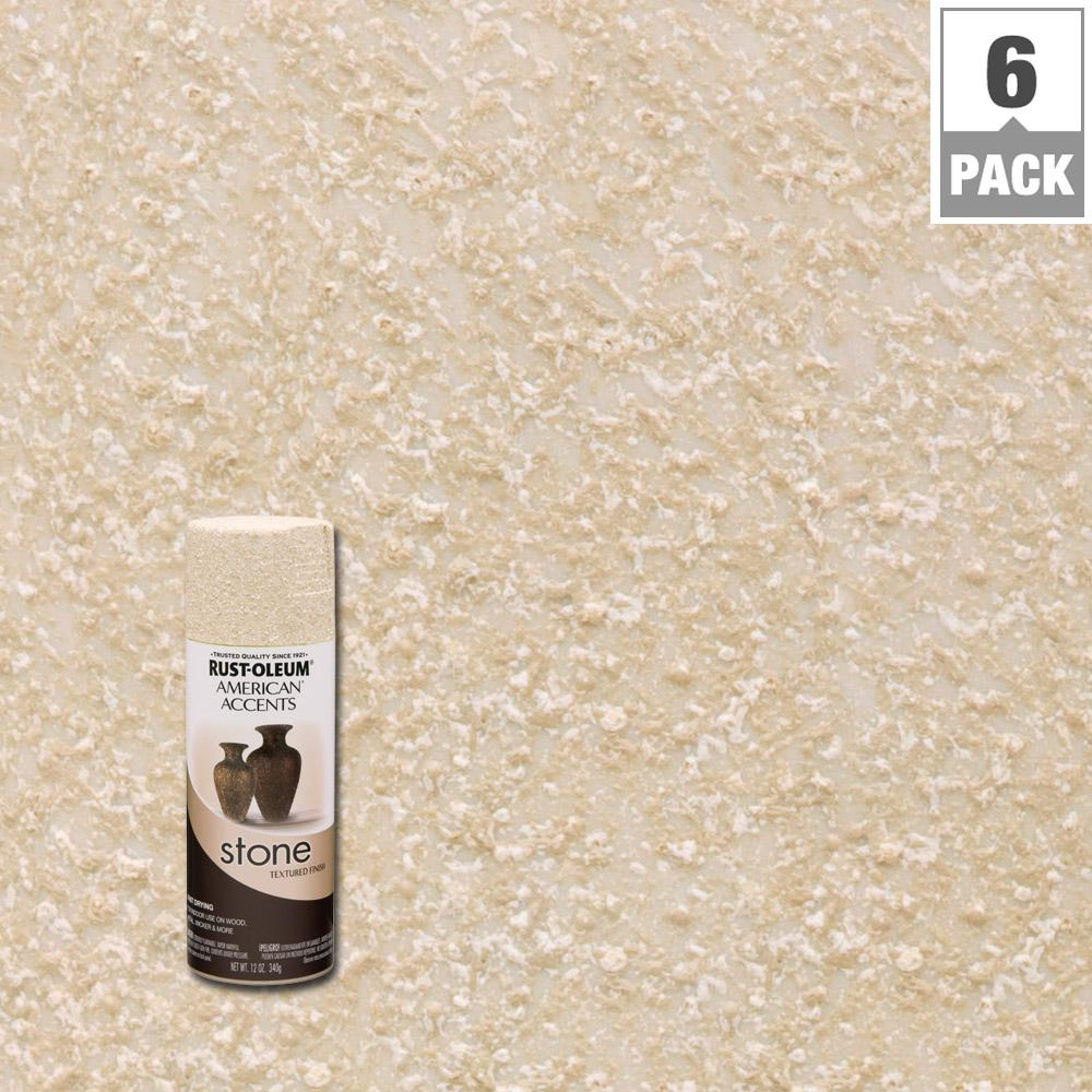 Stone Creations Bleached Textured Finish Spray Paint 6 Pack