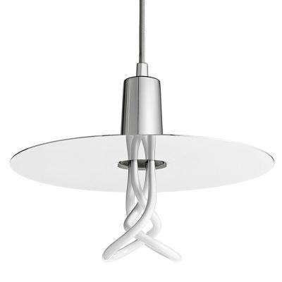 1-Light Chrome CFL Indoor Drop Hat Shade