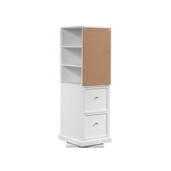 HomeVisions White Craft Storage Tower