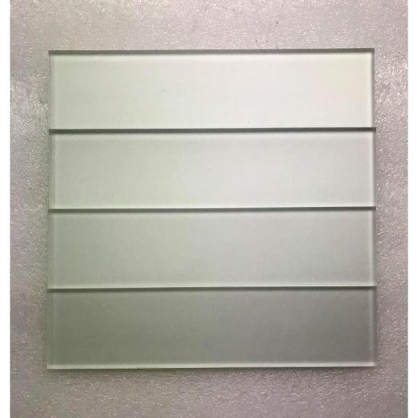 Abolos Forever Eternal White Deco 2 In X 8 In Matte Straight Edge Glass Wall Tile 9 Pk Hmdfom0208 Ew The Home Depot