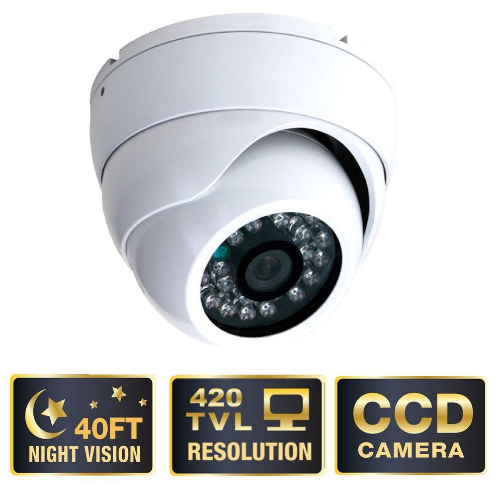 Q-SEE Advanced Series 420 TVL CCD Indoor/Outdoor Dome Shaped Surveillance Camera-DISCONTINUED