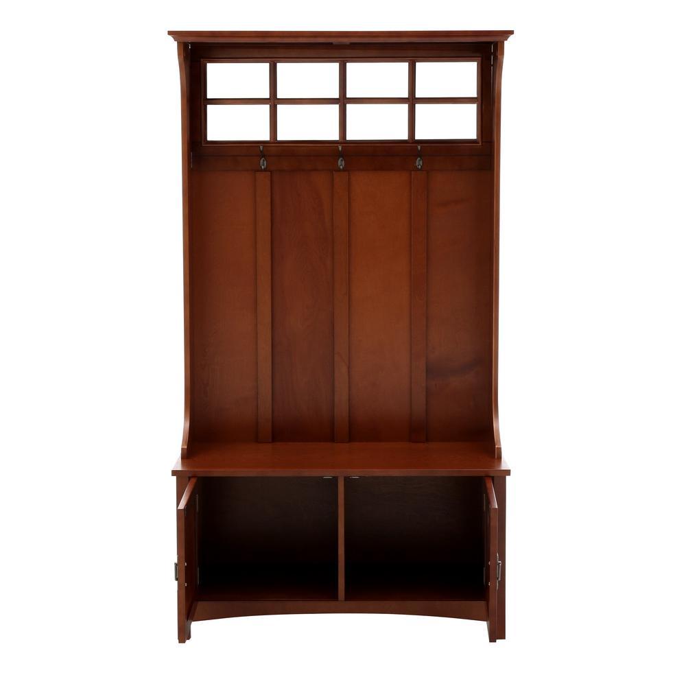 Home Decorators Collection Ambrose Dark Cherry Hall Tree Deals
