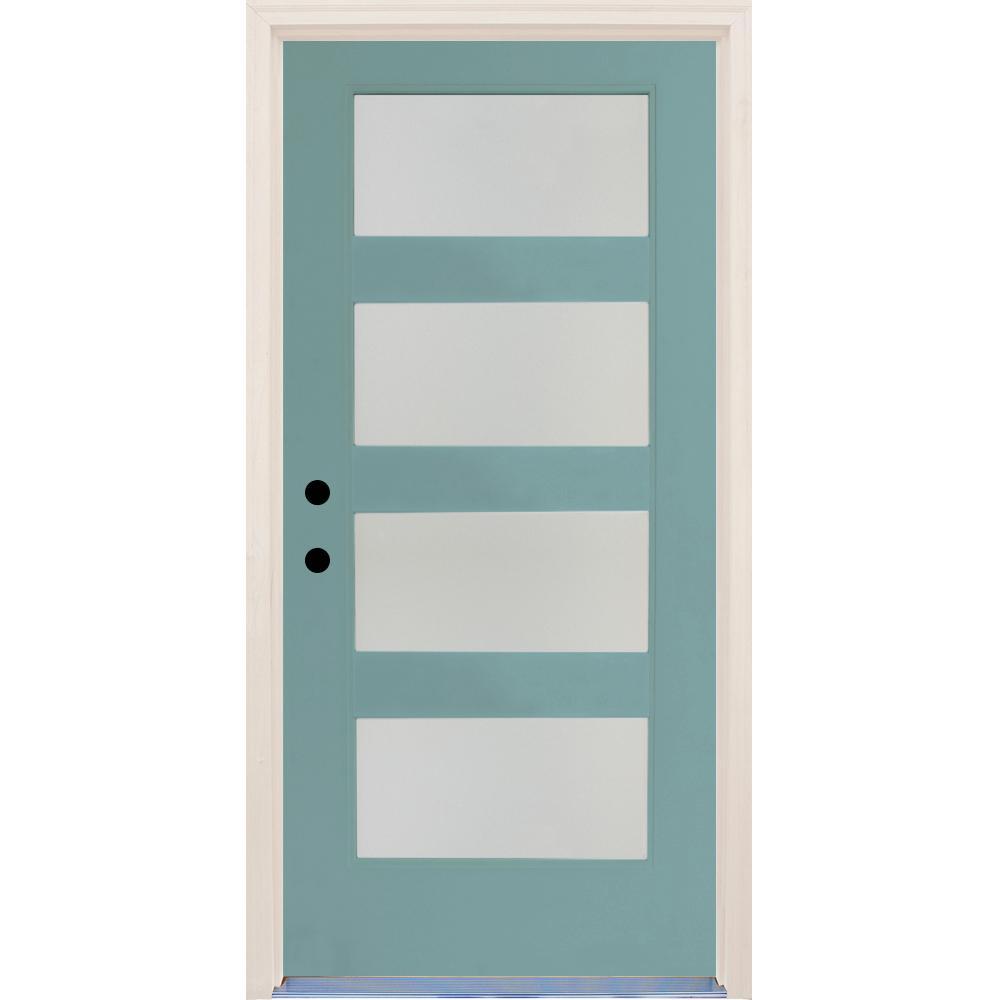 36 X 80 Midcentury Front Doors Exterior Doors The Home Depot