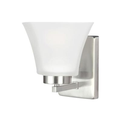 Bayfield 1-Light Brushed Nickel Wall Sconce