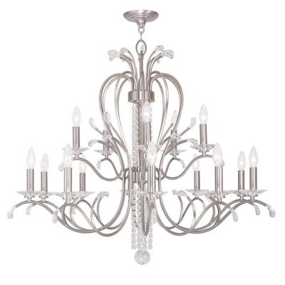 Serafina 15-Light Brushed Nickel Chandelier