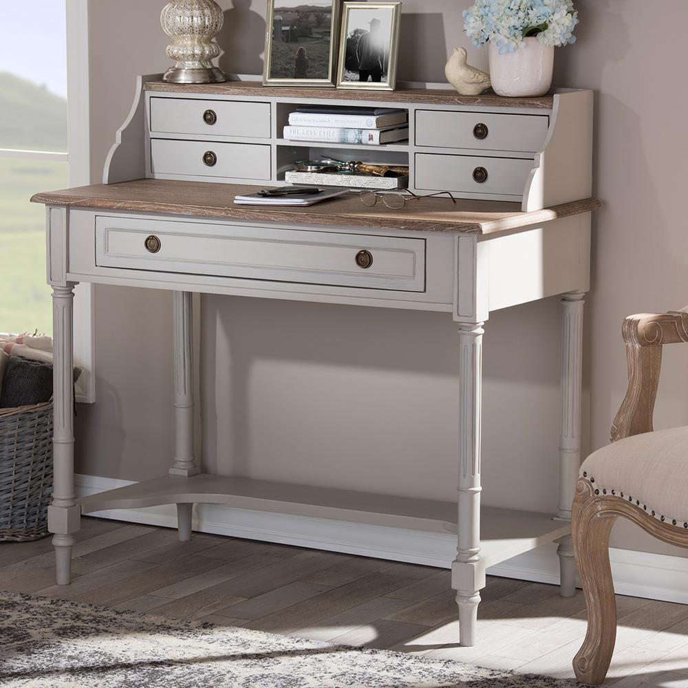 Baxton Studio Edouard French Provincial White Finished Wood Desk 28862-6653-HD