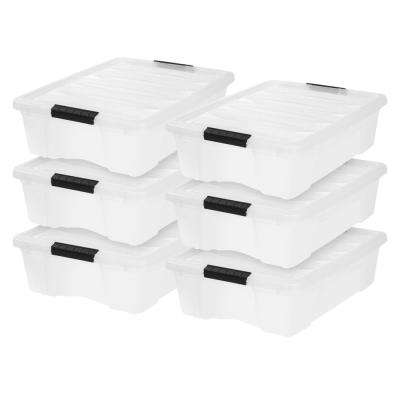 26.9 Qt. Stack and Pull Box in Pearl (6-Pack)