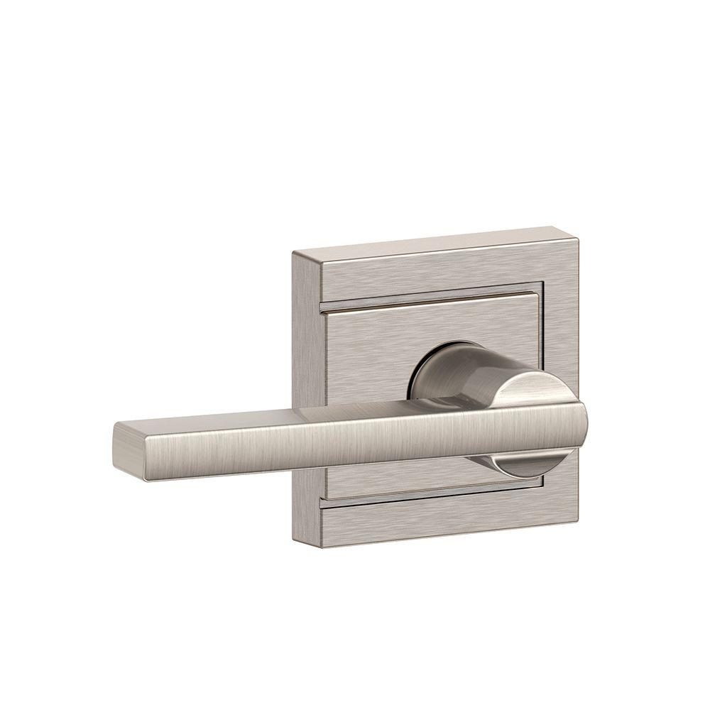 Schlage Latitude Satin Nickel With Upland Trim Hall And