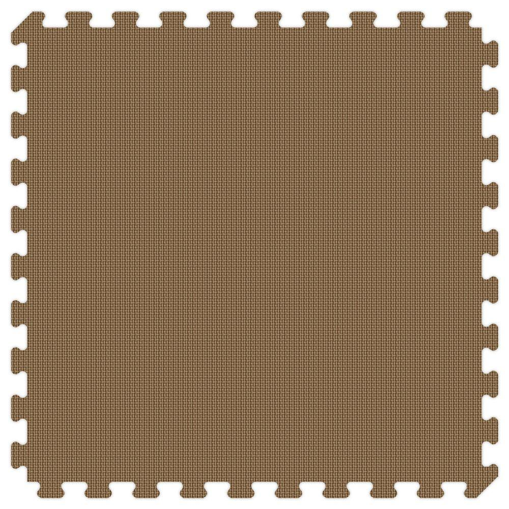 Brown and Tan Reversible 24 in. x 24 in. Thick Comfortable