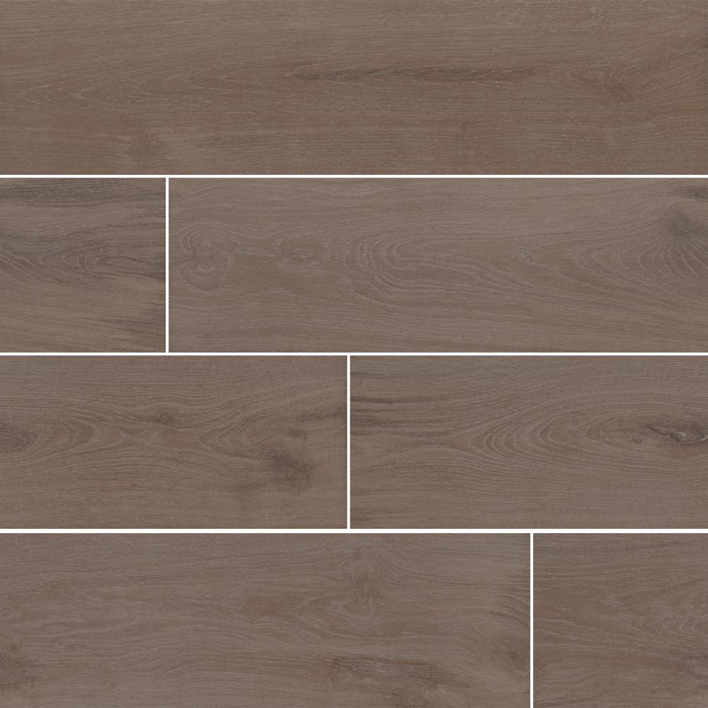 Everestwood Latte 8 in. x 48 in. Matte Porcelain Floor and Wall Tile (10.66 sq. ft. / case)