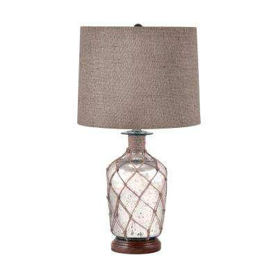 24 in. Jute-Wrapped Mercury Glass Table Lamp