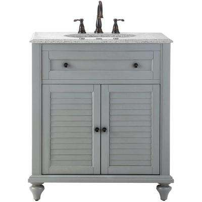 D Bath Vanity In Grey With Granite