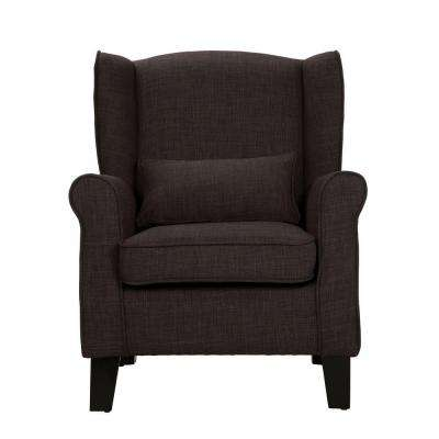 Pradera Charcoal Linen Wing Back Arm Chair