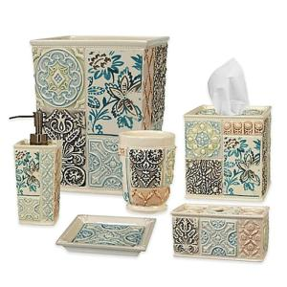 Creative Bath Veneto 6 Piece Ceramic Bath Accessory Set Vno06nat The Home Depot