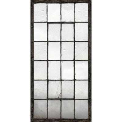 72 in. H x 107 in. W Warehouse Windows Mural Charcoal Industrial Texture Wall Mural