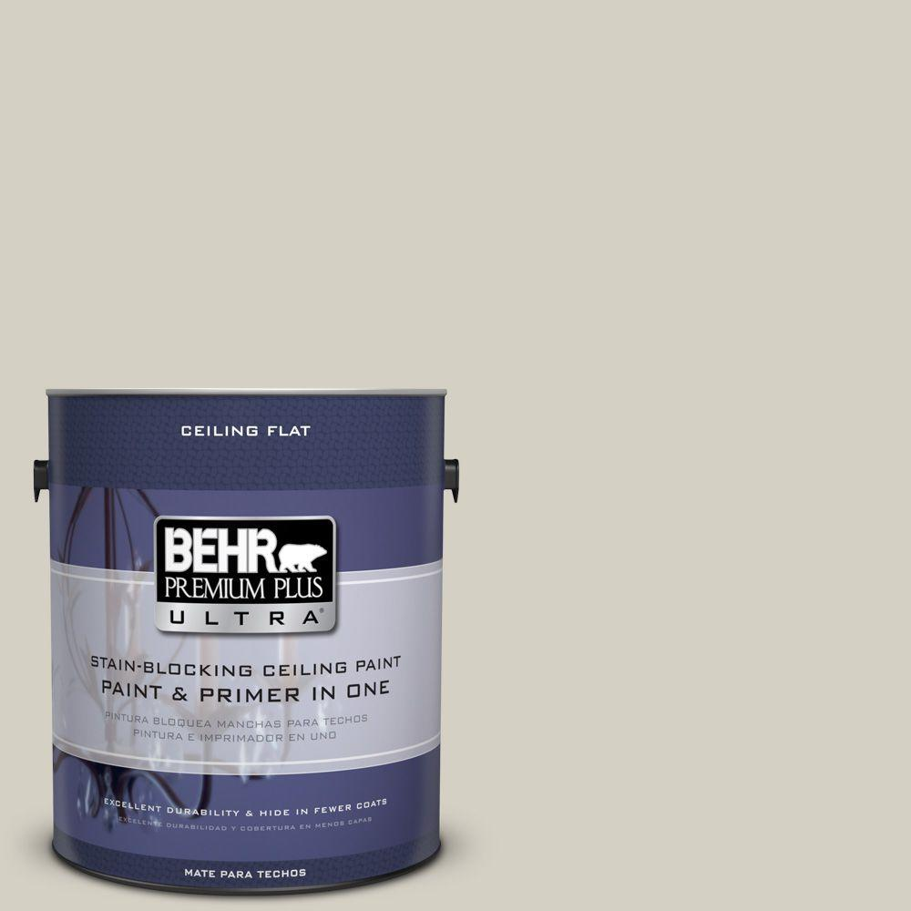 BEHR Premium Plus Ultra 1-Gal. No.UL190-10 Ceiling Tinted to Clay Beige Interior Paint
