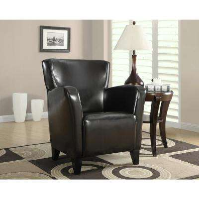 Europa Dark Brown Leather-Look Club Arm Chair