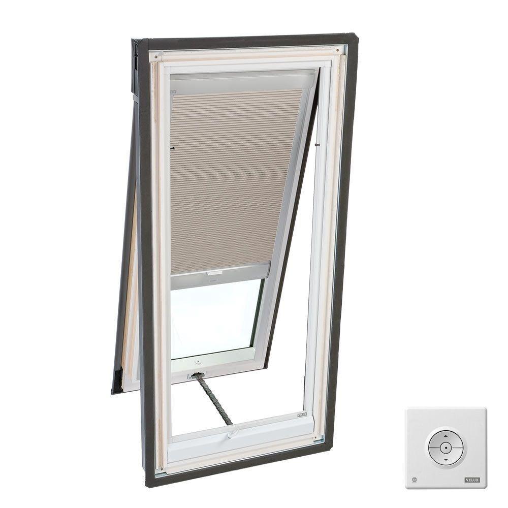 Solar Powered Room Darkening Beige Skylight Blinds for VS C01, VSS C01 and VSE C01 Models