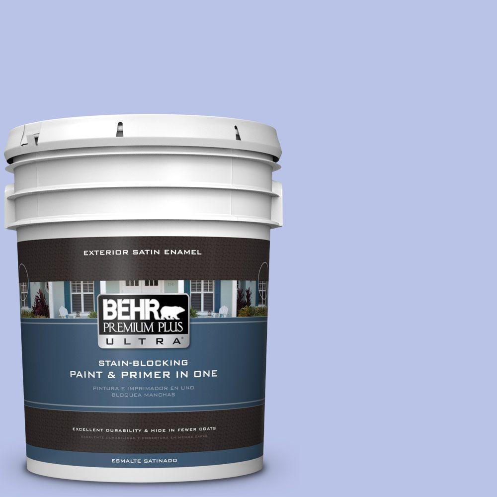 BEHR Premium Plus Ultra 5-gal. #P540-3 Canterbury Bells Satin Enamel Exterior Paint