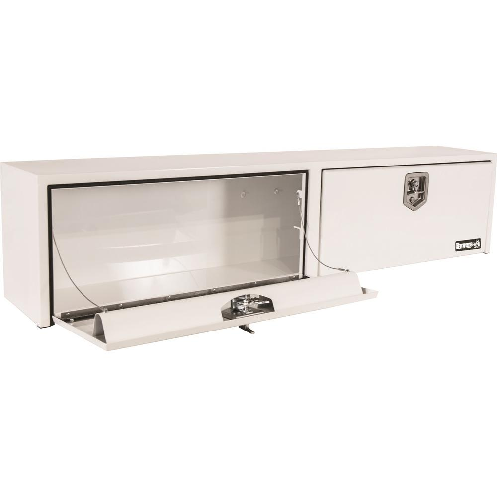 White Steel Topsider Truck Box with T-Handle Latch, 16 in. x