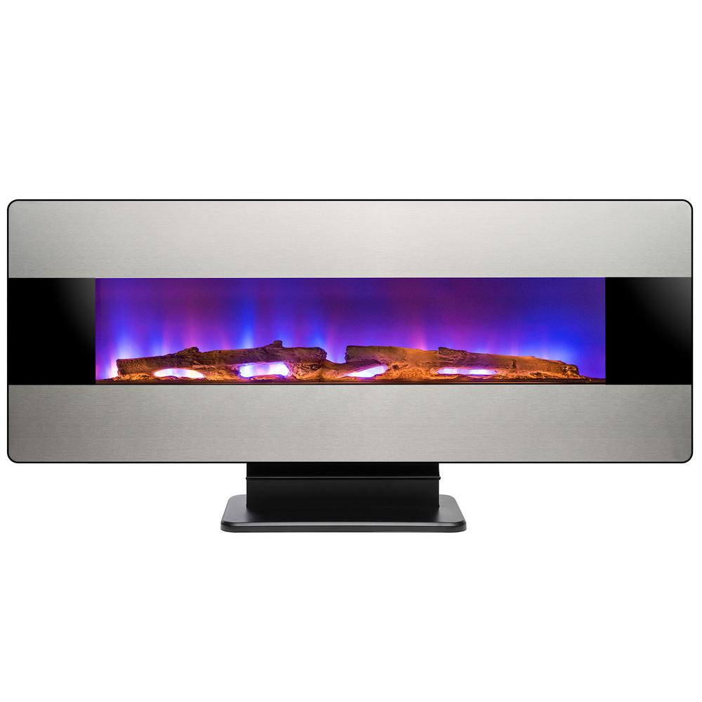 Fantastic Akdy 48 In Wall Mount Freestanding Convertible Electric Fireplace Heater In Stainless Steel With Remote Control Download Free Architecture Designs Griteanizatbritishbridgeorg