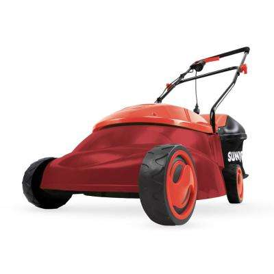 14 in. 12 Amp Electric Walk Behind Push Lawn Mower, Red