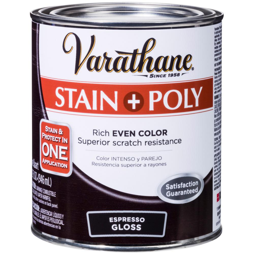 1-qt. Espresso Gloss Water-Based Interior Stain and Polyurethane