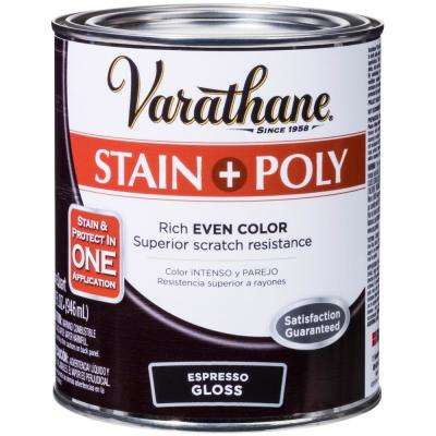 1-qt. Espresso Gloss Water-Based Interior Stain and Polyurethane (2-Pack)