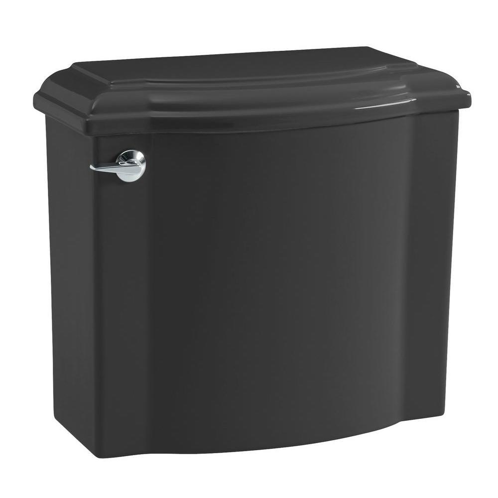 KOHLER Devonshire 1.6 GPF Toilet Tank Only in Black