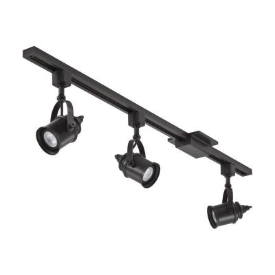 4 ft. Oil-Rubbed Bronze Integrated LED Spotlight Track Lighting Kit