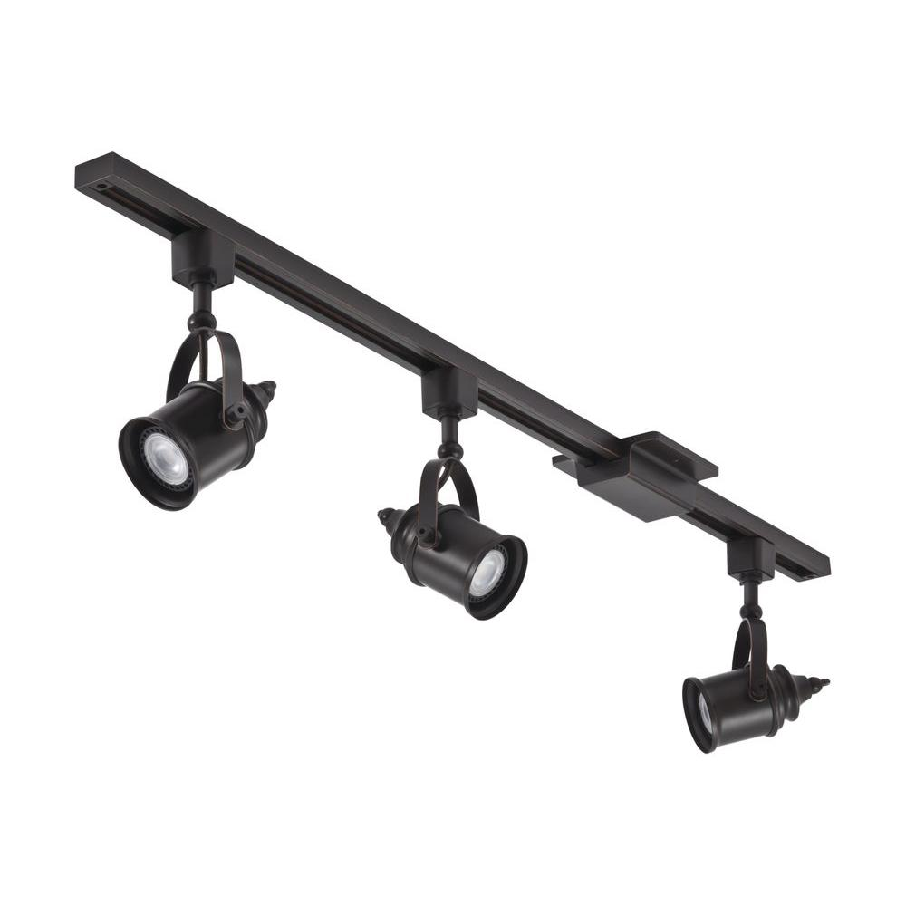 Lithonia Lighting 3 71 Ft Oil Rubbed Bronze Integrated Led Track Kit