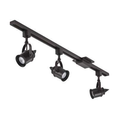 3.71 ft. Oil Rubbed Bronze Integrated LED Track Lighting Kit