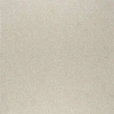 Serenity Cream 5 ft. 1 in. x 5 ft. 2 in. Modern Square Area Rug