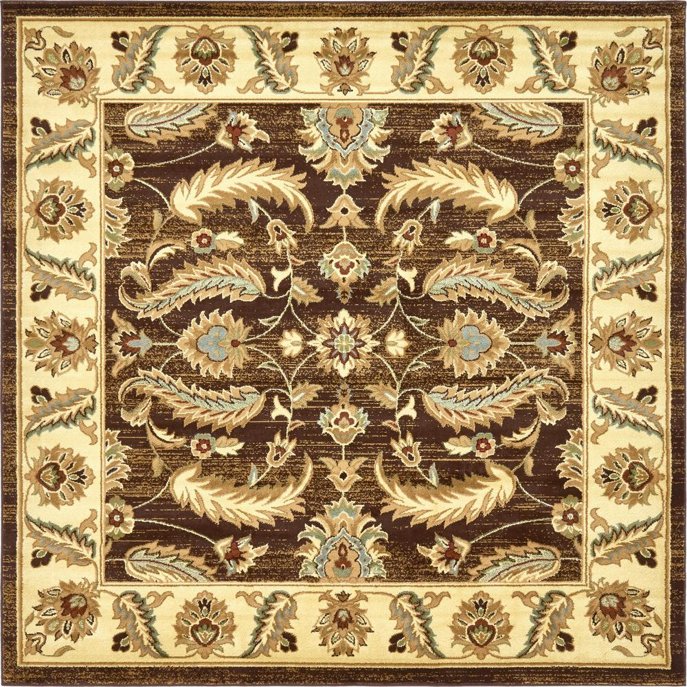 Agra Brown 8 Ft X Square Rug