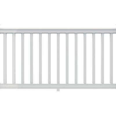 Premier 6 ft. x 36 in. White Vinyl Rail Kit with Square Balusters