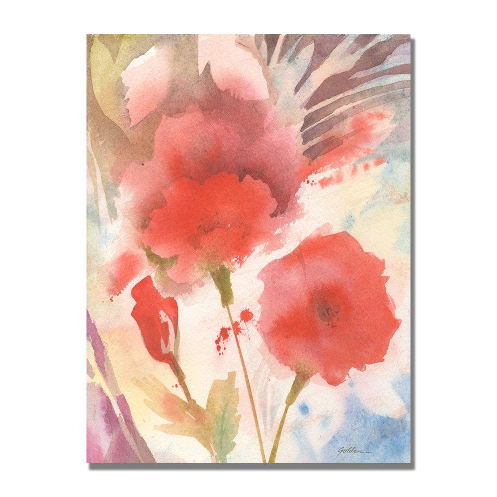 null 24 in. x 32 in. Red Echo Canvas Art