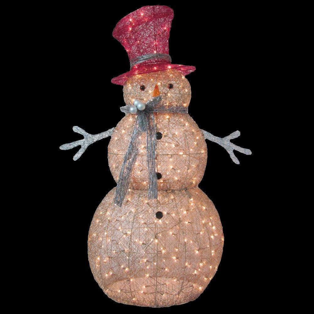 home accents holiday 5 ft pre lit gold snowman - Home Depot Christmas Decorations For The Yard