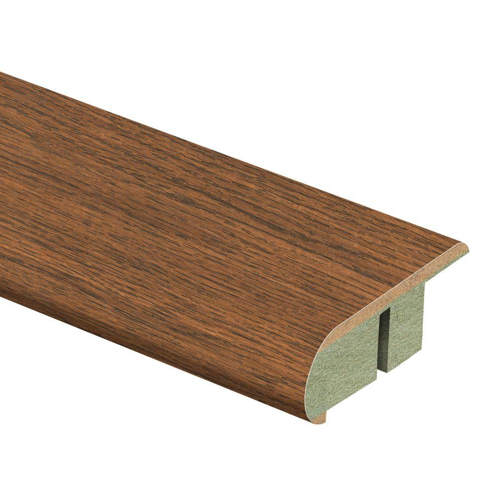 Zamma Homestead Oak 3/4 in. Thick x 2-1/8 in. Wide x 94 in. Length Laminate Stair Nose Molding