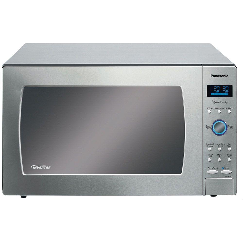 Panasonic Genius Prestige Luxury Size 2.2 cu. ft. Countertop Microwave in Stainless Steel with Sensor Cooking-DISCONTINUED
